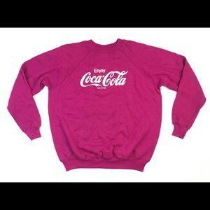 VINTAGE COCA COLA SWEATER LARGE L SWEATSHIRT 50/50
